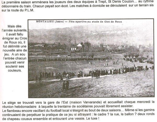 Montalieu stade 1923